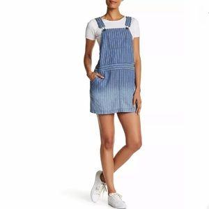 Splendid striped ombré railroad overall dress S